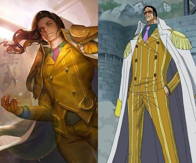 王者榮耀:與動漫角色相似的幾個皮膚圖片